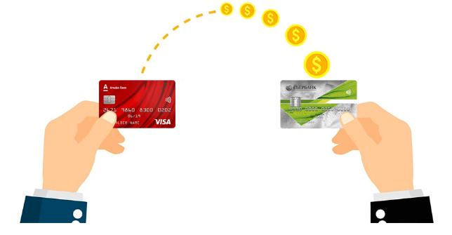 Пополнить баланс карты Сбербанка через Альфа-Банк